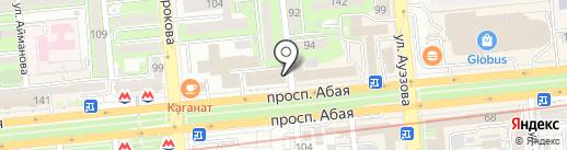 Музкафе на карте Алматы