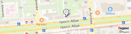 Zebra taxi на карте Алматы