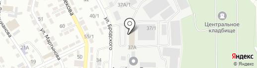 Азлар Кент на карте Алматы