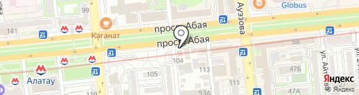Счастье на карте Алматы