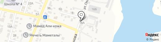 Шиномонтаж на карте Жапека Батыра