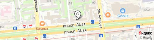 Береке-КАБ на карте Алматы