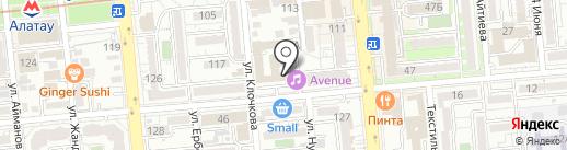 Отдел миграционной полиции УВД Бостандыкского района г. Алматы на карте Алматы