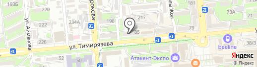 Алатау-Кус на карте Алматы
