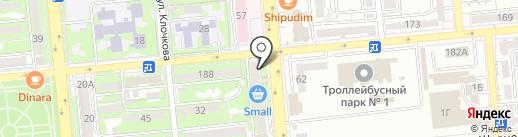 Почтовое отделение связи №8 на карте Алматы