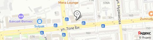 Обувайка на карте Алматы