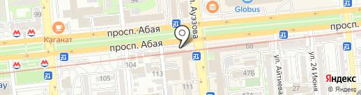 Нотариус Тусупаева А.К. на карте Алматы