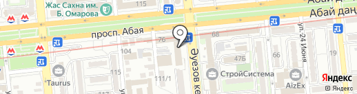 Пьяный кролик на карте Алматы