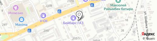 Медсервис Еркебулан, ТОО на карте Алматы