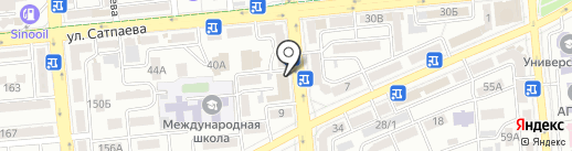 Нотариус Тагибаева С.М. на карте Алматы
