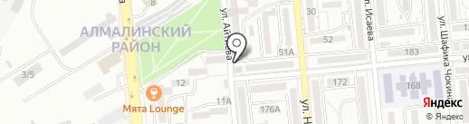 Бухта на карте Алматы