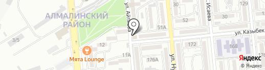 Гранит на карте Алматы