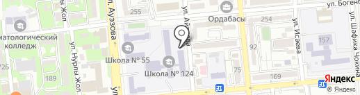 Алмалинский районный отдел образования на карте Алматы