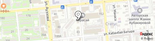Гульшаш на карте Алматы