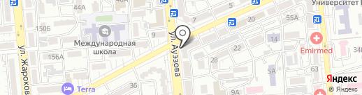Тельняшка на карте Алматы