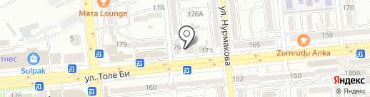 Чемодан на карте Алматы