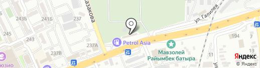 Центр ритуальных услуг на карте Алматы
