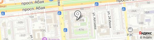 Нысана на карте Алматы