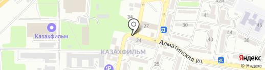 Врачебная амбулатория, Городская поликлиника №17 на карте Алматы