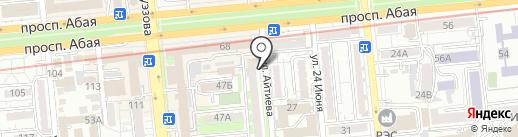 Овощной магазин на карте Алматы