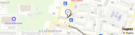 Нотариус Аканов Б.А. на карте Алматы