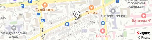 Нотариус Сеитова Л.Б. на карте Алматы