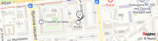 Частный судебный исполнитель Кабулбаева Г.А. на карте Алматы
