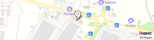 ЖелДорЭкспедиция, ТОО на карте Первомайского