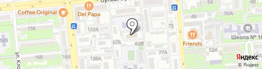 Нотариус Габдулина Ю.Р. на карте Алматы