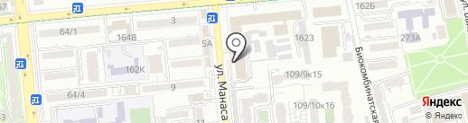 Алмани на карте Алматы