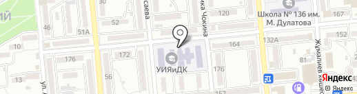 Алматинский Казахско-Турецкий гуманитарно-технологический колледж на карте Алматы
