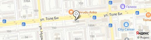 Бутик ювелирных изделий и бижутерии на карте Алматы