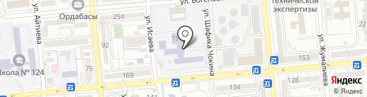 Гимназия №46 на карте Алматы