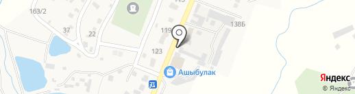 Ашыбулак на карте Туймебаевой