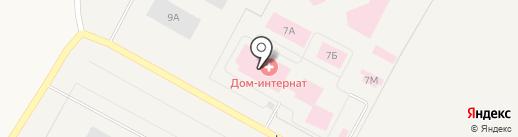 Психоневрологический интернат на карте Излучинска