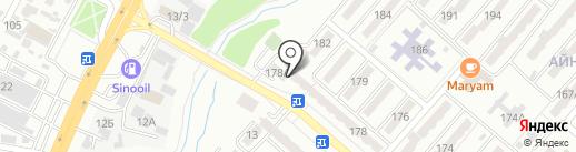 Ясмина на карте Алматы
