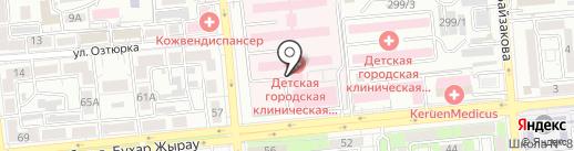 Центр детской неотложной медицинской помощи на карте Алматы