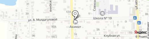 Почтовое отделение связи с. Ащибулак на карте Туймебаевой