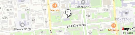 Класс на карте Алматы