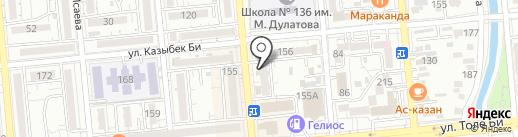 Нотариус Суйлеменов М.И. на карте Алматы