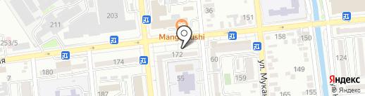 Детская стоматологическая поликлиника на карте Алматы