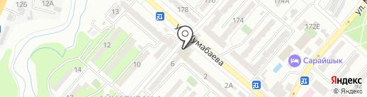Гамарджоба на карте Алматы