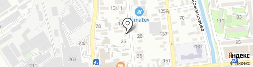 Каспий Снаб, ТОО на карте Алматы