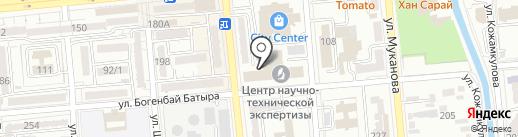 Нотариус Абдрахманова А.А. на карте Алматы