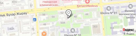 Скверик на карте Алматы