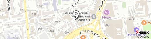 Нотариус Оршабекова Г.Б. на карте Алматы