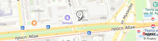 Бахытты жол на карте Алматы