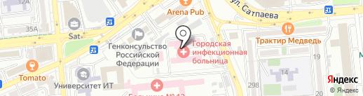 Городская клиническая инфекционная больница им. И.С. Жекеновой на карте Алматы