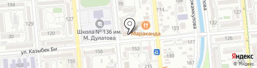 Нотариус Жанаров Ж.К. на карте Алматы
