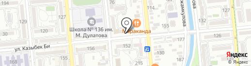 Овощной киоск на карте Алматы